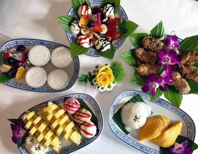 Thai Desserts im Thai Orchidee Restaurant Bronschhofen